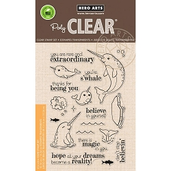 Hero Arts - Clear Stamp - Believe In Yourself Narwhal