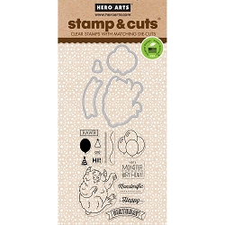 Hero Arts - Stamp & Cut - Monster Birthday Stamp & Cut