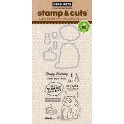Hero Arts - Stamp & Cut - Eat Cake All Day Stamp & Cut