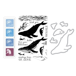 Hero Arts - Stamp, Die & Ink Kit - Color Layering Blue Whale Bundle