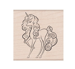 Hero Arts - Wood Mounted Rubber Stamp - Unicorn