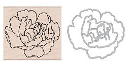 Hero Arts - Wood Stamp & Die Set - Artistic Peony