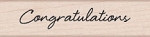 Hero Arts - Wood Mounted Rubber Stamp - Little Greetings Congratulations
