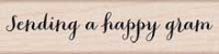 Hero Arts - Wood Mounted Rubber Stamp - Happy Gram Script