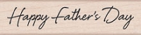 Hero Arts - Wood Mounted Rubber Stamp - Scripted Father's Day
