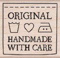 Hero Arts - Wood Mounted Rubber Stamp - Handmade with Care