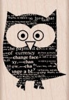 Hero Arts - Wood Mounted Rubber Stamp - Newspaper Owl