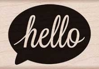 Hero Arts - Wood Mounted Rubber Stamp - Hello Bubble
