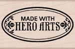 Hero Arts - Wood Mounted Rubber Stamp - Made with Hero Arts