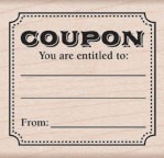 Hero Arts - Wood Mounted Rubber Stamp - Entitled Coupon