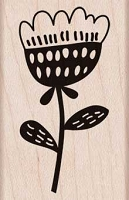 Hero Arts - Wood Mounted Rubber Stamp - Small Bold Flower