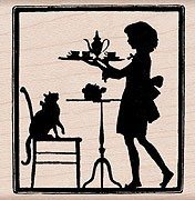 Hero Arts - Wood Mounted Rubber Stamp - Teatime Silhouette
