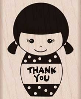 Hero Arts - Wood Mounted Rubber Stamp - Thank You Girl