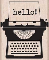Hero Arts - Wood Mounted Rubber Stamp - Hello Typewriter