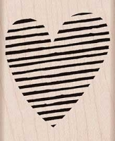 Hero Arts - Wood Mounted Rubber Stamp - Striped Heart