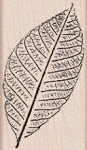 Hero Arts-Wood Mounted Rubber Stamp-Hand Pressed Leaf