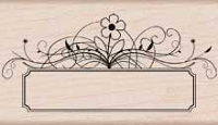 Hero Arts - Wood Mounted Rubber Stamp - Flower Message Tag