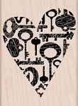 Hero Arts - Wood Mounted Rubber Stamp - Heart Key