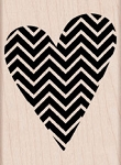 Hero Arts - Wood Mounted Rubber Stamp - Patterned Heart