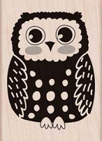 Hero Arts - Wood Mounted Rubber Stamp - Circles Owl