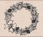 Hero Arts-Wood Mounted Rubber Stamp-Pinecone Wreath