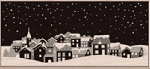 Hero Arts-Wood Mounted Rubber Stamp-Winter Town
