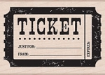 Hero Arts - Wood Mounted Rubber Stamp - Ticket
