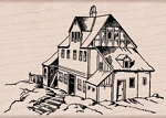 Hero Arts - Wood Mounted Rubber Stamp - House