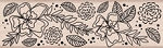 Hero Arts - Wood Mounted Rubber Stamp - Flower Border