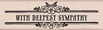 Hero Arts - Wood Mounted Rubber Stamp - Deepest Sympathy