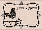 Hero Arts - Wood Mounted Rubber Stamp - Just a Note