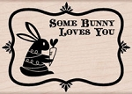 Hero Arts - Wood Mounted Rubber Stamp - Some Bunny