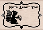 Hero Arts - Wood Mounted Rubber Stamp - Nuts About You