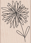 Hero Arts - Wood Mounted Rubber Stamp - Pom Pom Flower