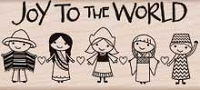 Hero Arts - Wood Mounted Rubber Stamp - Joy To The World