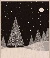 Hero Arts - Wood Mounted Rubber Stamp - Winter Moon