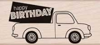 Hero Arts - Wood Mounted Rubber Stamp - Birthday Delivery