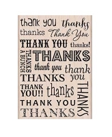 Hero Arts - Wood Mounted Rubber Stamp - Thank You / Thanks