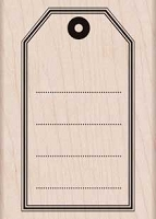 Hero Arts - Wood Mounted Rubber Stamp - Big Tag