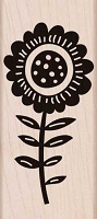 Hero Arts - Wood Mounted Rubber Stamp - Big Bold Flower