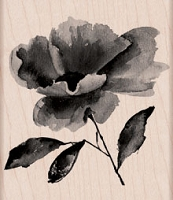 Hero Arts - Wood Mounted Rubber Stamp - Painted Flower