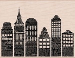 Hero Arts - Wood Mounted Rubber Stamp - Newspaper Skyline