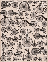 Hero Arts - Wood Mounted Rubber Stamp - Bicycle Background