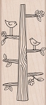 Hero Arts-Wood Mounted Rubber Stamp-Tree Trunk