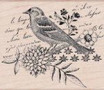 Hero Arts-Wood Mounted Rubber Stamp-Bird Collage