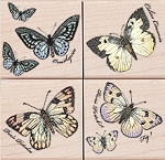 Hero Arts-Wood Mounted Rubber Stamp-Papillons