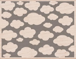 Hero Arts-Wood Mounted Rubber Stamp-Clouds Background