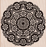 Hero Arts-Wood Mounted Rubber Stamp-Circle Lace