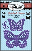 Hot off the Press - Die - 3 Butterflies & 2 Shadows