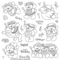 Hot Off The Press - Clear Stamps - Janie's Beary Fairies (8